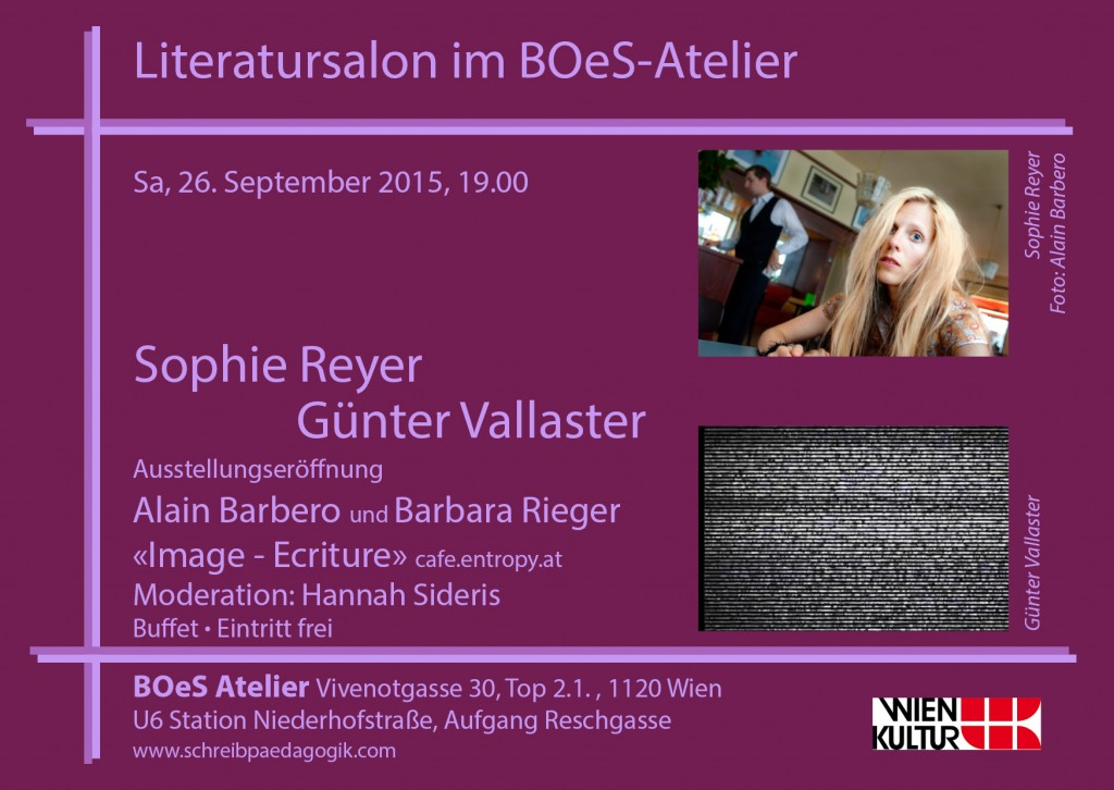 Ausstellung, Exposition, BOeS, Café Entropy, Aus Sprache